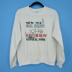 Vintage Jerzees NY Wall Street Sweatshirt  (M1)
